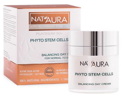 Балансиращ дневен крем за нормална към мазна кожа NAT'AURA..